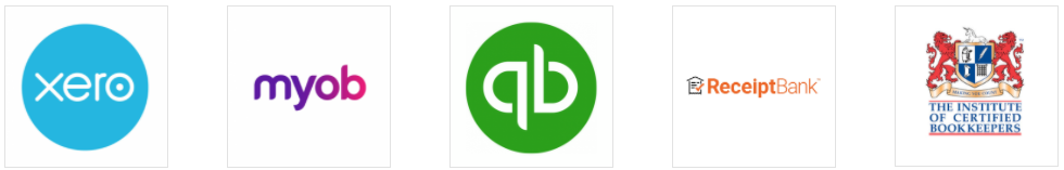 xero, myob, quickbooks, receipt bank, ICB membership logos bookkeeper melbourne south east