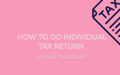 How to do individual tax return in a small business